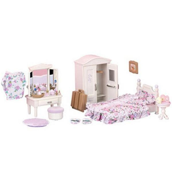 Sylvanian families guest bedroom set toys Master bedroom set sylvanian