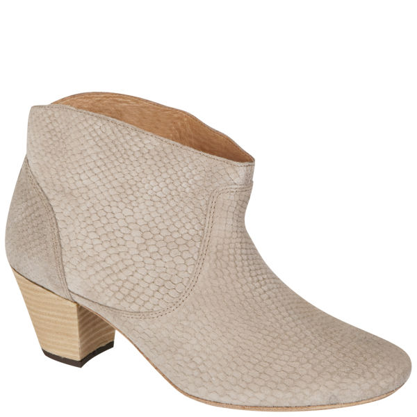 H Shoes by Hudson Women's Mirar Snake Heeled Ankle Boots - Grey