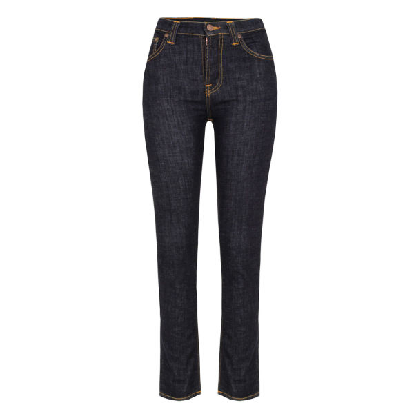 Nudie Women s High Kai Organic Twill Skinny Jeans - Navy - Free UK ... 46db84dbc