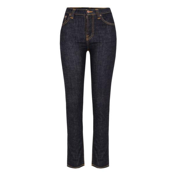 Nudie Women's High Kai Organic Twill Skinny Jeans - Navy