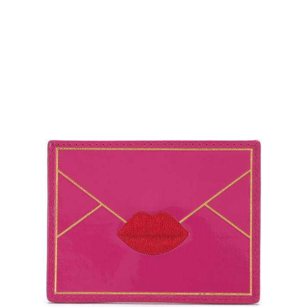 Lulu Guinness Patent Envelope Card Holder - Shocking Pink