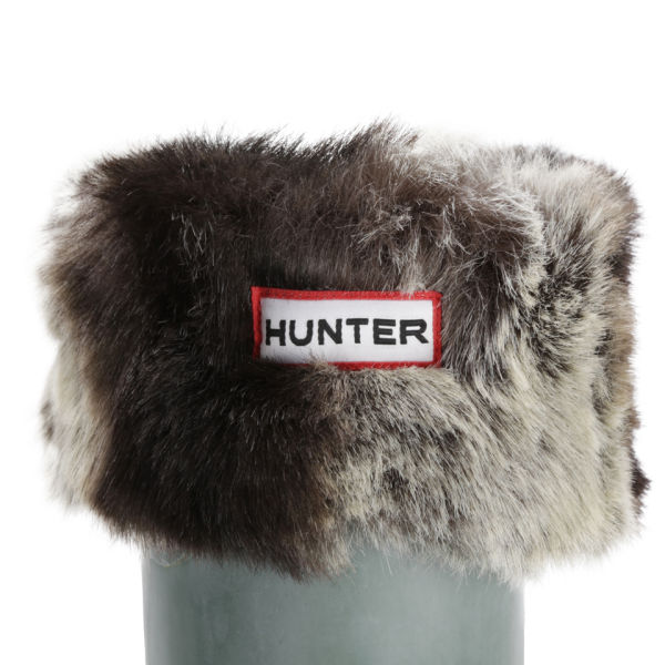 Hunter Women's Short Furry Cuffy Welly Socks - Chinchilla Grey