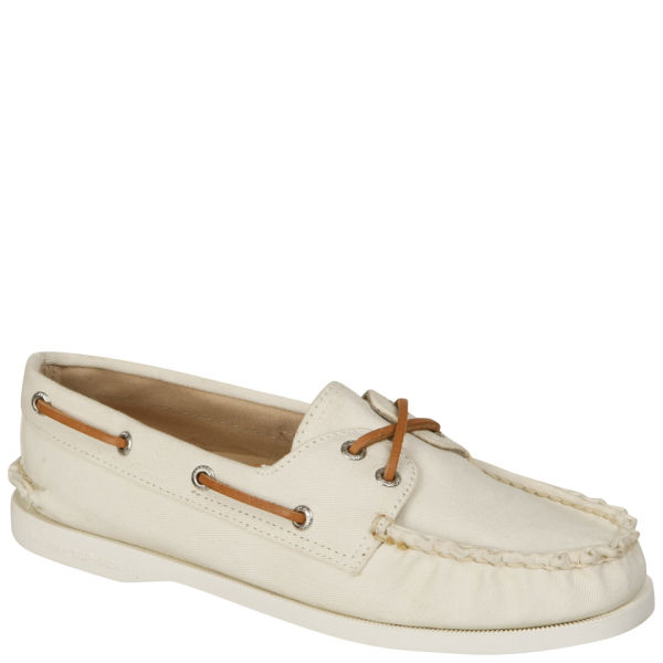 Sperry Women's AO 2-Eye Twill Boat Shoes - White