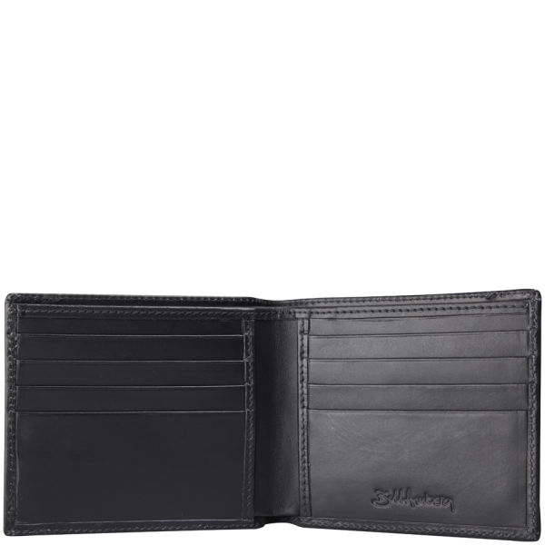 Bill Amberg Classic Leather Hip Wallet Black Red