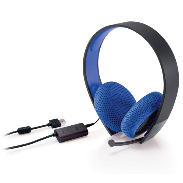 ps4 official sony playstation silver wired stereo headset black rh zavvi com PlayStation Wireless Headset Sony PS3 Bluetooth Headset