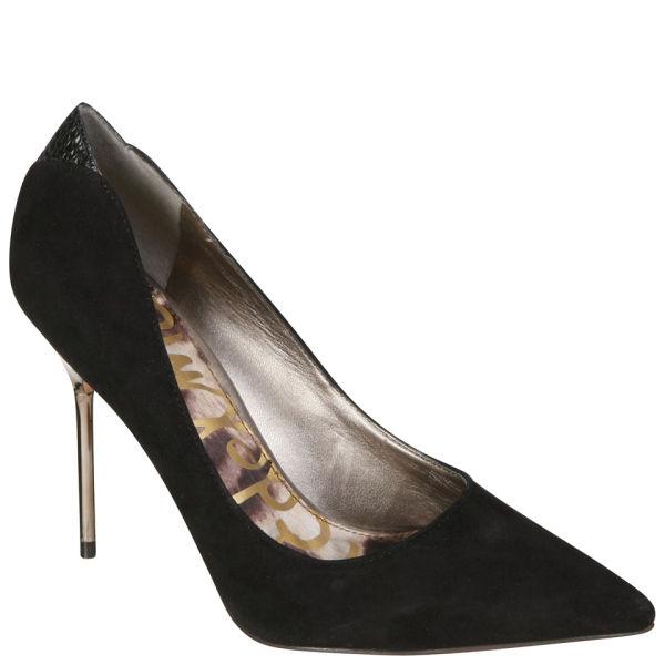 Sam Edelman Women's Danielle Court Shoes - Black Suede