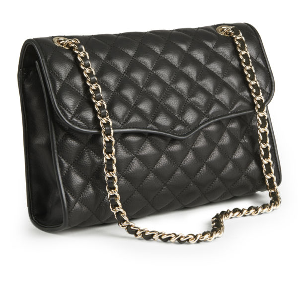 Rebecca Minkoff Quilted Affair Chain Strap Leather Cross Body Bag