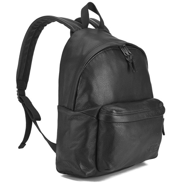 Eastpak Padded Pak'r Leather Backpack - Black Clothing | TheHut.com