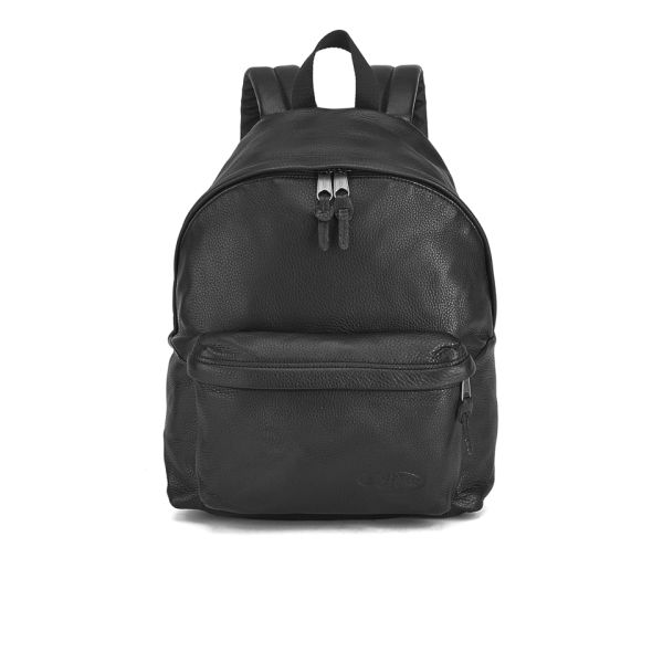 Eastpak Padded Pak r Leather Backpack - Black  Image 1