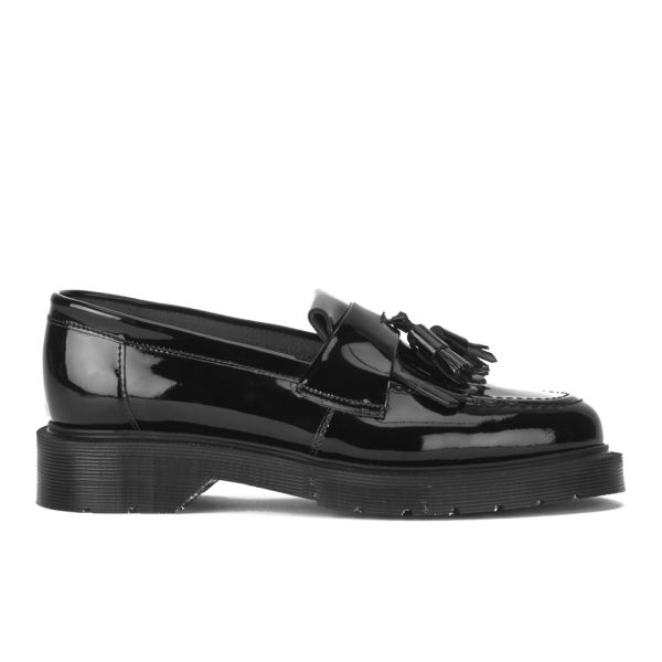 YMC Women's Solovair Patent Leather Tassel Loafers - Black