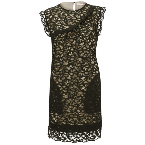 See By Chlo Womens Black Lace Dress Black Free Uk Delivery