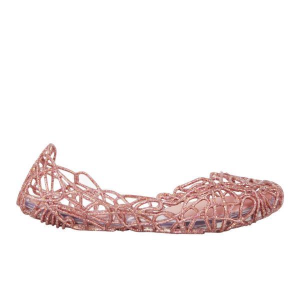 Melissa Women's Campana Sapatilha Flats - Pink Multi Glitter