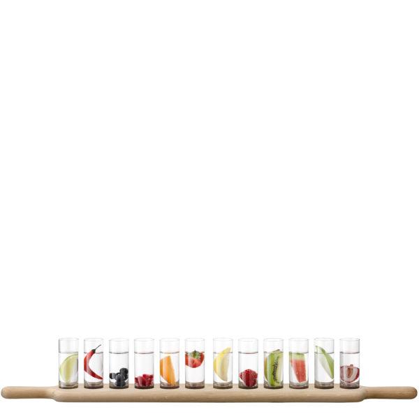 LSA Paddle Grand Vodka Set and Oak Paddle L77cm Clear