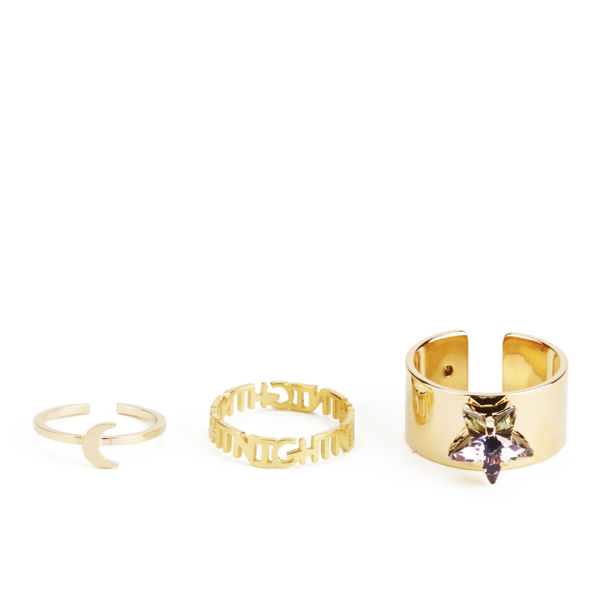 Maria Francesca Pepe Star Ring Set - Gold