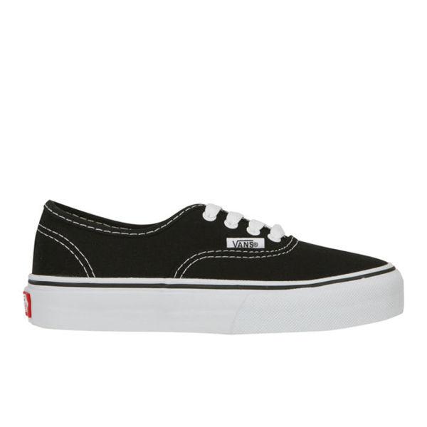 78a77f35d0837b Vans Kids  Authentic Canvas Trainers - Black Clothing