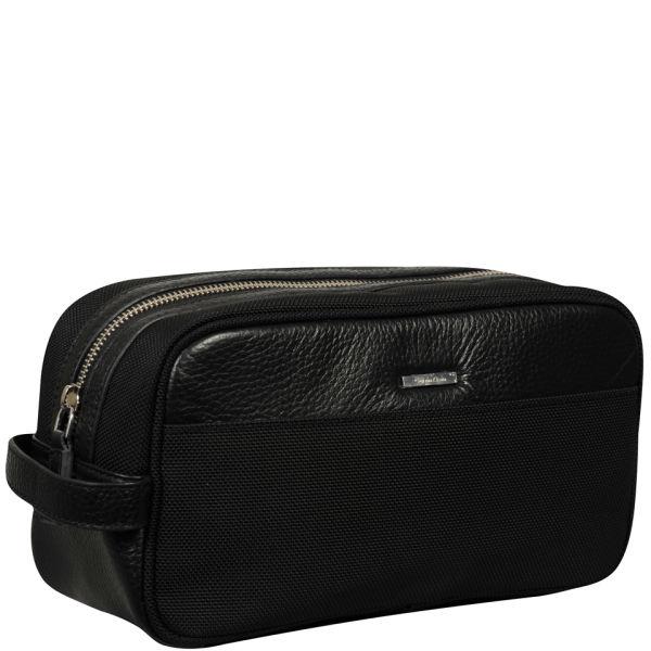 02764b2a75 Calvin Klein Men s Luca Pebble Leather Washbag - Black  Image 2