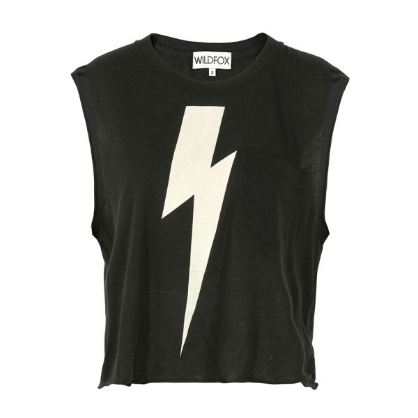 Wildfox Women's White Lightening T-Shirt - Clean Black
