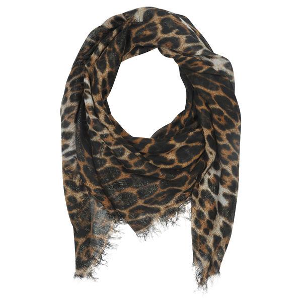 Roberto Cavalli Leopard Print Silk Mix Scarf