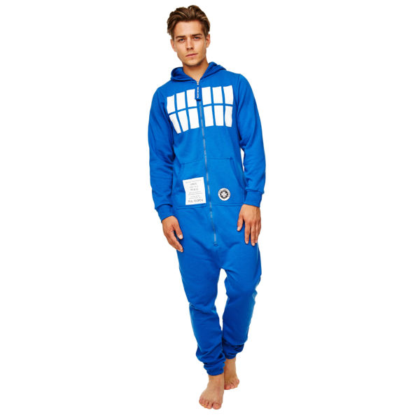 doctor who m nner tardis erwachsene jumpsuit blau sowia. Black Bedroom Furniture Sets. Home Design Ideas