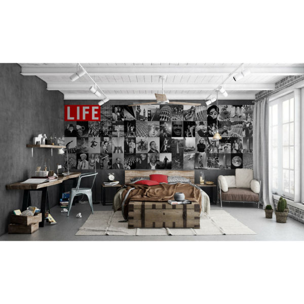life magazine cover wall mural homeware zavvi. Black Bedroom Furniture Sets. Home Design Ideas