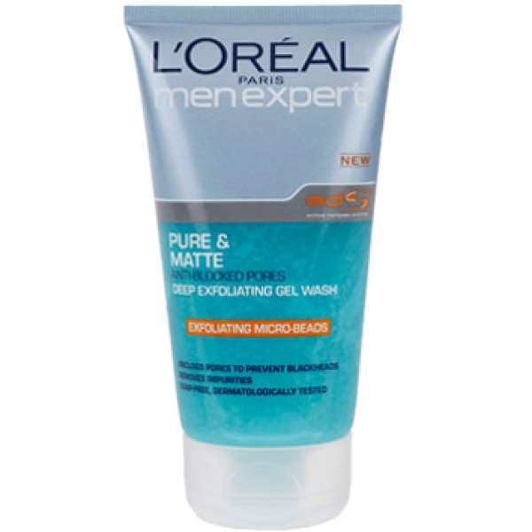 L'Oreal Paris Men Expert Pure & Matte Deep Exfoliating Wash (5oz)