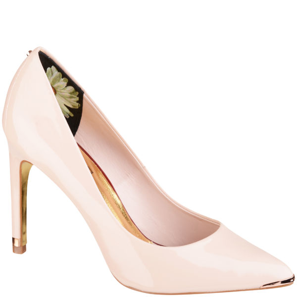 Ted Baker Women's Neevo Patent Pointed Court Shoes - Nude