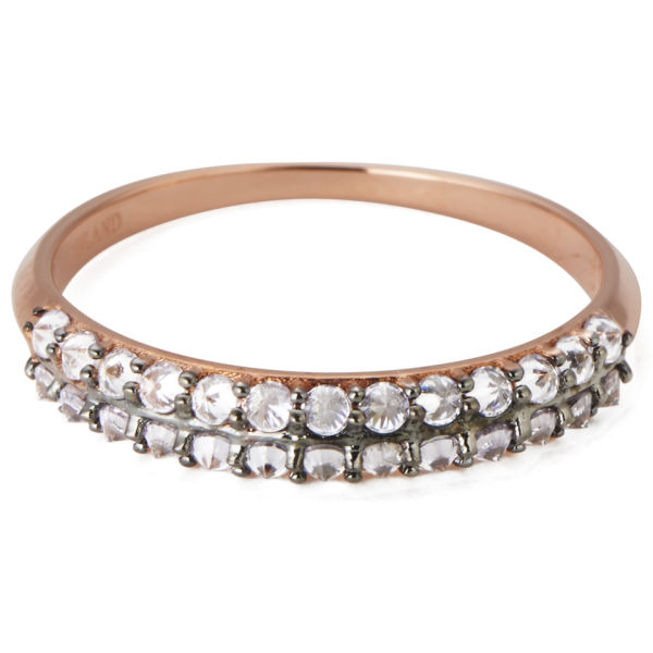 Katie Rowland Women's Zelle Enrapture 18 Carat Half Eternity Ring - Rose Gold