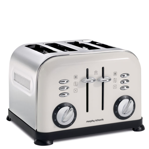 Morphy Richards Toaster: Morphy Richards 4 Slice Accents Toaster - White