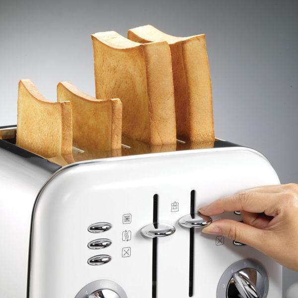 Slicwe Morphy Richards Toaster 4: Morphy Richards 4 Slice Accents Toaster - White