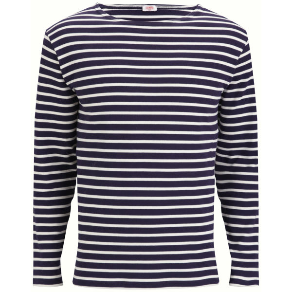 Armor Lux Men's Marinière Héritage Long Sleeve T-Shirt - Navire/Nature