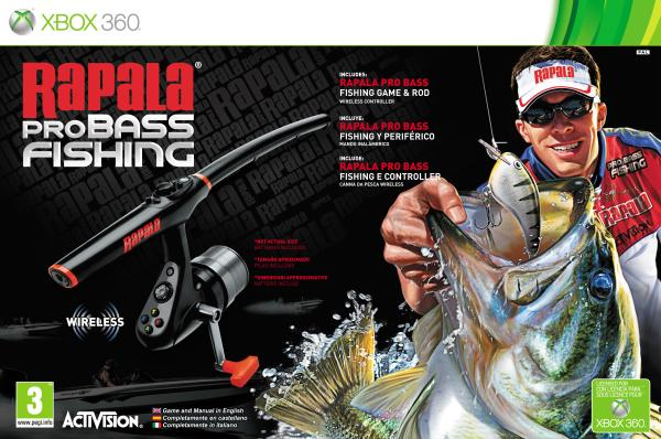 Rapala pro bass fishing with rod xbox 360 zavvi for Xbox fishing games
