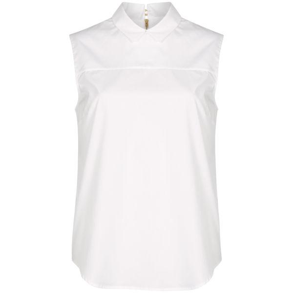 Victoria Beckham Women's Zip Back Woven Shirt - White