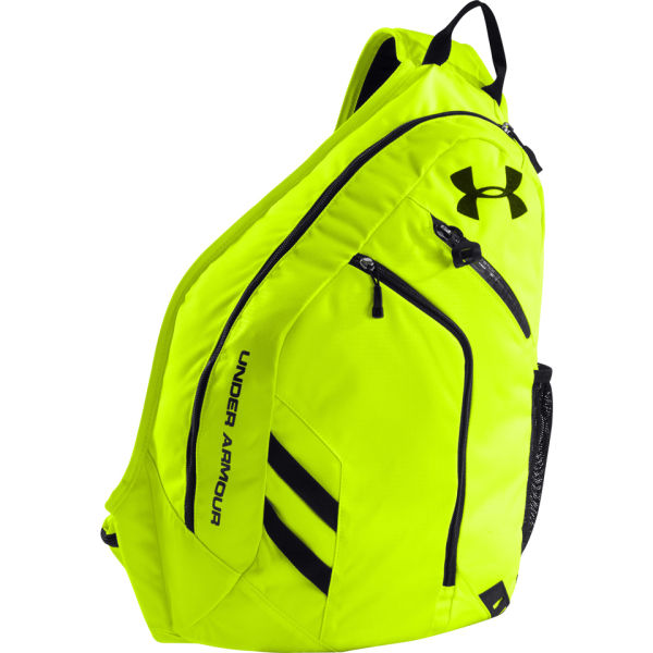 Under Armour Unisex Compel Sling Bag - High-Vis Yellow/Black ...