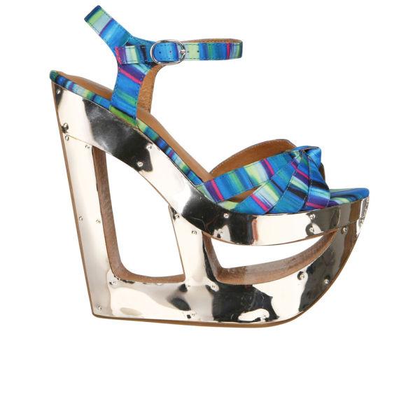 Jeffrey Campbell Women's 2012-587 Patterned Heels - Blue