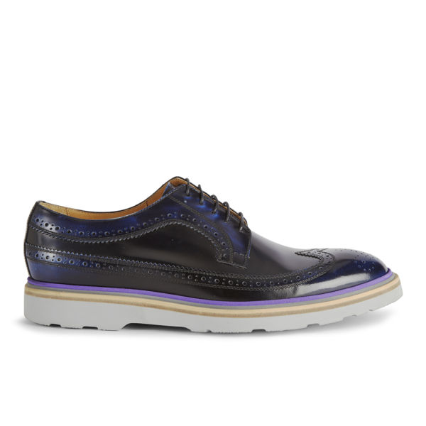 Paul Smith Shoes Men's Grand Leather Brogues - Purple Harlem
