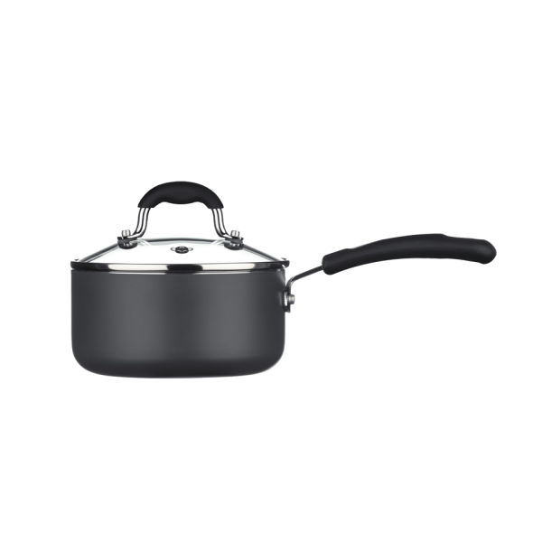 Sorted Aluminium 16cm Saucepan with Glass Lid