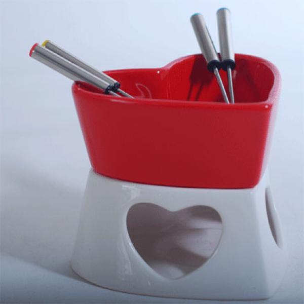 Heart Shaped Chocolate Fondue Set - Valentine Gifts | IWOOT