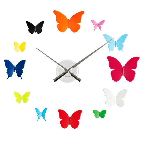 Karlsson Wall Clock DIY Butterflies IWOOT