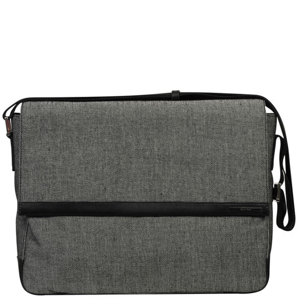 5b2cdd2be4 Calvin Klein Men s Benson Canvas Messenger Bag - Grey  Image 1