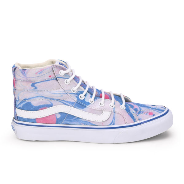Vans Women's Sk8-Hi Slim Marble Trainers - True White