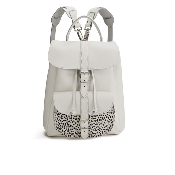 Grafea Wild at Heart Leather Backpack - White