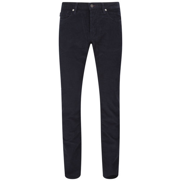Paul Smith Jeans Men's Tapered Fit 5-Pocket Needle Cord Jeans - Navy