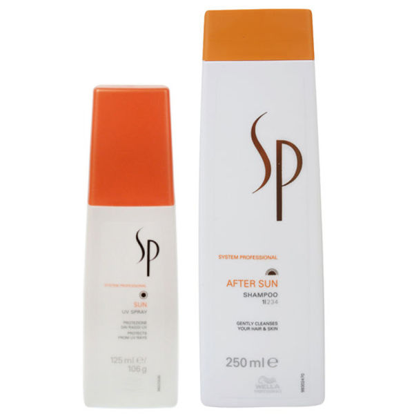 Duo protección solar Wella SP Sun - Spray UV y champú after-sun