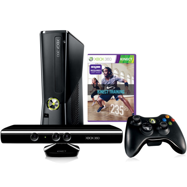 Xbox 360 4gb kinect training bundle includes nike kinect games consoles zavvi - Xbox 360 console kinect bundle ...