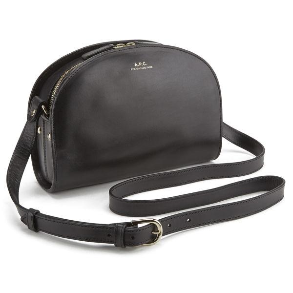 a p c women 39 s demi lune bag black free uk delivery. Black Bedroom Furniture Sets. Home Design Ideas