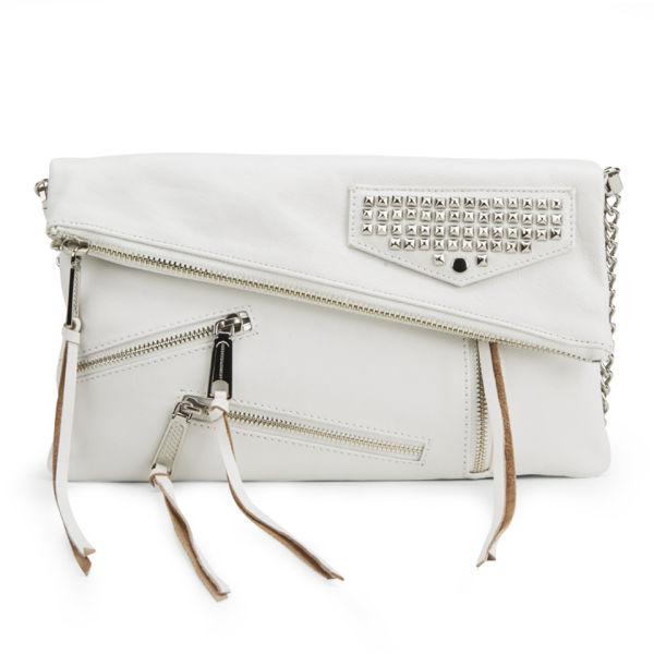Rebecca Minkoff Harper Soft Leather Clutch Bag - White