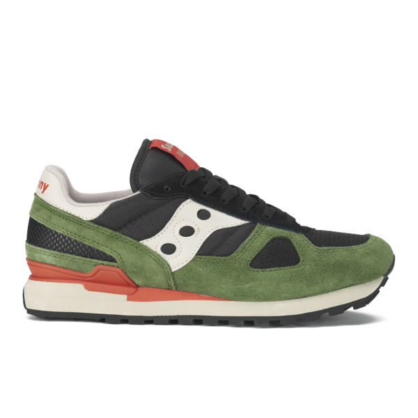 2ace859ac0a9e Saucony Men's Shadow Original Trainers - Black/Green | FREE UK ...