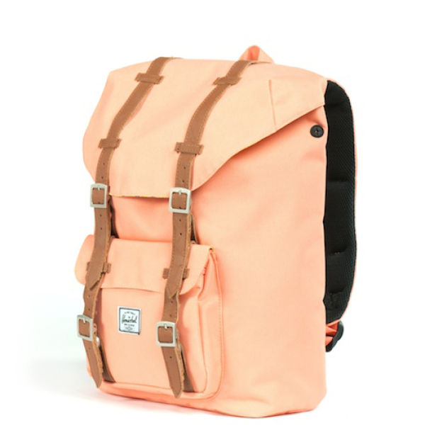 82f90074b34d Herschel Supply Co. Little America Mid Volume Canvas Backpack - Coral   Image 3