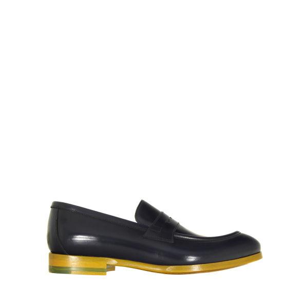Paul Smith Shoes Women's 136K Leopard Shoes - Navy