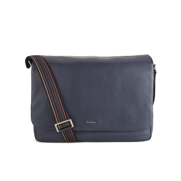 Paul Smith Accessories Men's City Webbing Leather Messenger Bag ...